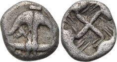 THRACE. Apollonia Pontika. Hemiobol (Late 5th-4th century BC). Obv: Anchor, A to left. Rev: Swastika within incuse square, two lines in each quarter. Weight: 0.42 g. Diameter: 8 mm