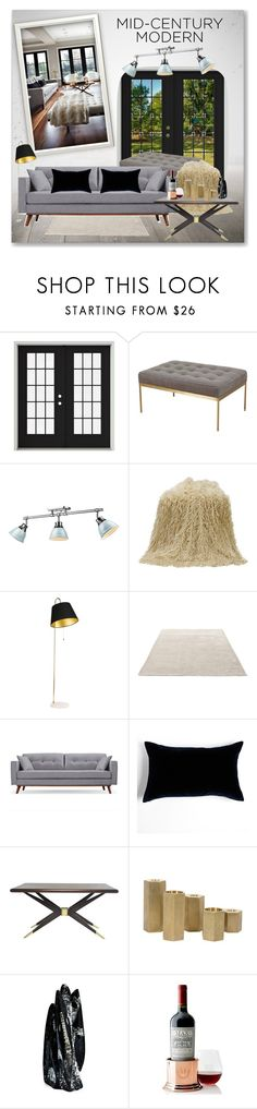 """Clean Spaces: Mid-Century Modern"" by malinda108 ❤ liked on Polyvore featuring interior, interiors, interior design, home, home decor, interior decorating, Lawson-Fenning, Golden Lighting, &Tradition and Jayson Home"