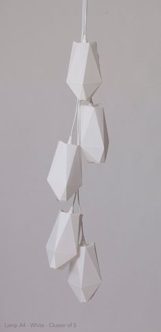 Lamp A4 White Cluster. Foldable origami by KingKongDesignShop