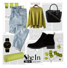 """SheIn"" by erna-pozderovic ❤ liked on Polyvore featuring Victoria Beckham, Frieling, Wrap, Dot & Bo, Lucky Brand, Larsson & Jennings and Lord & Taylor"