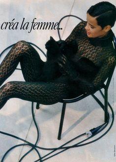 1991 - Nadege Du Bospertus in Alaia by Gilles Bensimon for Elle Magazine France October 1991