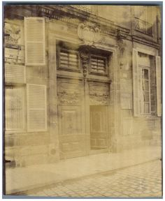 Eugène Atget, Paris, Hotel Boisgelins Quai Bourbon    #Europe #Paris