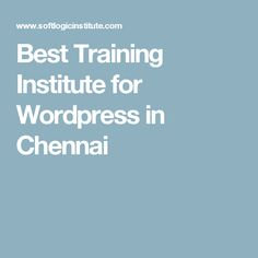 Offers training in wordpress. It is one of the most popular cms available in the market and millions of websites run on wordpress platform. Chennai, Wordpress, Training, Work Outs, Excercise, Onderwijs, Race Training, Exercise, Studying