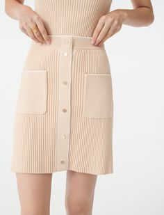 Thing 1, Pret A Porter Feminin, Beige, Maje, Knit Skirt, Knitting Yarn, Aesthetic Clothes, Shorts, Designer Knitwear