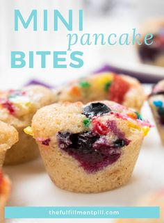 Breakfast meal prep just got a whole lot easier (and sweeter) with these easy pancake bites. They're quick, tasty, and totally customizable. Freezable Meals, Easy Freezer Meals, Breakfast Cookies, Breakfast Recipes, Breakfast Ideas, Lunch Recipes, Summer Recipes, Mini Pancakes, Pancakes Easy