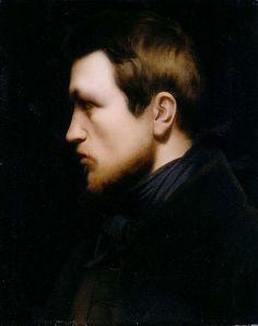Autoportrait de Jean-Hippolyte Flandrin (1809-1864), c. 1840