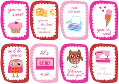 craft, printables, lunch boxes, printable cards, valentine day cards, lunch notes, valentine cards, valentine ideas, kid