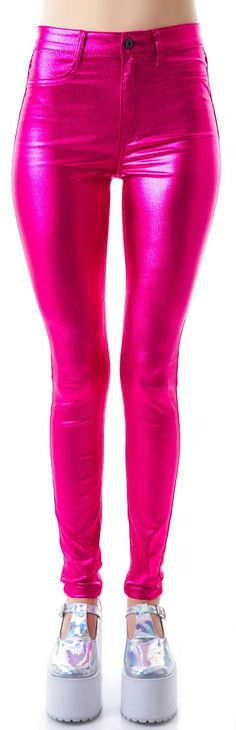 Lip Service Shimmer Skinny Jeans | Dolls Kill I own these now and absolutely love them! I want them in the lavendar too!!