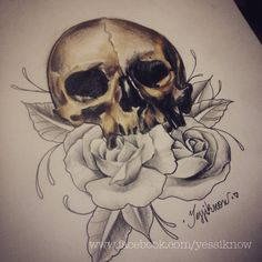 Skull and roses #yessiknow