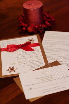 Christmas Wedding Invitations | DESIGNCHIK-Christmas theme wedding invites