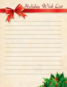 Christmas Wish List - Free Printable Coloring Pages