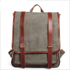 "100%+Genuine+Leather+canvas,+dark+bag+zipper,+mobile+phone+bag,+bag+of+documentation.  Material:+excellent+Canvas+Antique+cow+leather+from+Italy;+durable+cotton+fabric+lining;+bronze+tone+  hardware  Dimensions:+  W:+12.60""+(32+cm)+  H:+14.96""+(38cm)+  D:+4.72""+(12+cm)  Weight:+1.005+KG  Please+c..."