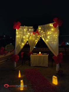 Best Romantic Room Decoration ideas for an unforgettable evening. Surprise your partner with our exciting romantic room decor & set up just for you two. Romantic Room Decoration, Romantic Bedroom Decor, Anniversary Parties, 25th Anniversary, Happy Birthday Special Person, Balloon Decorations, Table Decorations, Romantic Surprise, Balloon Flowers