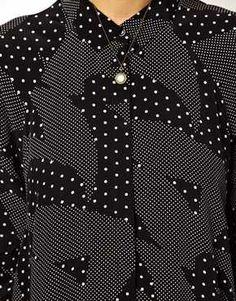 Image 3 ofASOS Shirt Dress In Mono Print