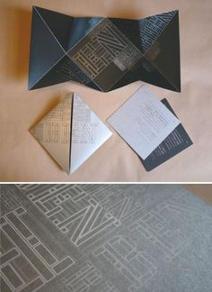 Invitation/letter fold.  Photo only.