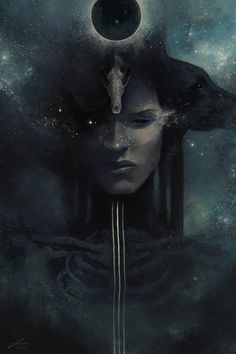 Paintings of Egyptian Gods and Goddesses, as well as writing on Egyptian Mythology, for my upcoming book, 'From Dark Expanse, the Stars'. Arte Sci Fi, Behind Blue Eyes, Egyptian Mythology, Egyptian Goddess, Goddess Art, Hel Goddess, Occult Art, Sombre, Fantasy Paintings