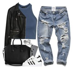 """V ♡ V ♡ MMXVI"" by justice-ellis ❤ liked on Polyvore featuring Topshop, Zara, Givenchy, adidas Originals and Pieces"