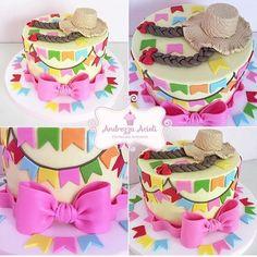Fofura de bolo para Festa Junina. Pic via @andrezzaacioli #encontrandoideias #blogencontrandoideias #fabiolateles