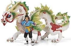 Asian Dragon Auruun Figurine by Schleich Safari, Dragons Love Tacos, Thing 1, World Of Fantasy, Dragon Rider, Chinese Dragon, Medieval Fantasy, Mythical Creatures, Cool Toys