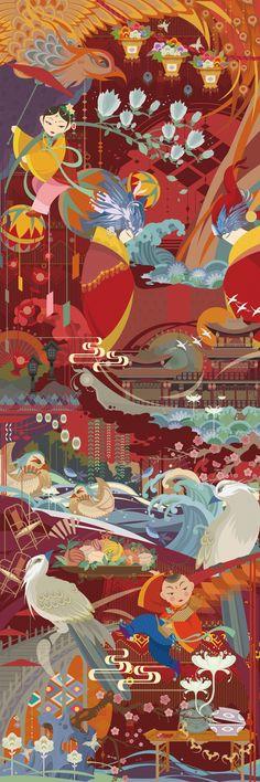 查看《《福生五相》传统吉祥图案创意插画及相关衍生品设计》原图,原图尺寸:491x1473
