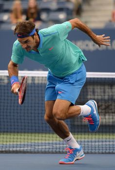 Roger Federer, August 31, 2014, 3rd Round. US Open.  Lost the first set badly - after a 2 hour rain delay he came out pumped up, moving around the court really well. Hasn't moved as well in 3 years. Fantastic. Cruised through the last sets with a fine display of offensive and defensive skill.