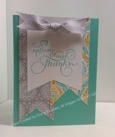 Stampin' Fun with Diana: 30 Day Gratitude Card Challenge: Day 10, Million  One, Thanks, Card, Stampin' Up, Diana Eichfeld