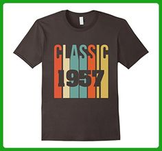 Mens Retro Classic 1957 T-Shirt 60th - Birthday T-shirt Medium Asphalt - Retro shirts (*Amazon Partner-Link)