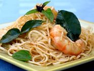 Rice Noodles with Shrimp, Chili, and Lime: 15 minutes (skip the lime leaves)