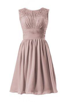 DaisyFormals Vintage Lace Dress Short Lace Bridesmaid Dress Formal Dress(BM2529)- Dusty Rose