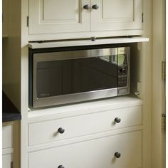 MICRowave hidden in lower cabinet - Google Search
