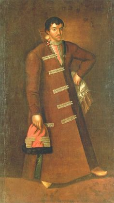 Unknown Russian artist of the second half of the XVII century School of Armory Portrait of Prince Andrei Ivanovich Repnin Big (?) (? -1666) 1690. Canvas, oil. 194x 109 The State Russian Museum