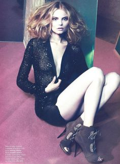 Magdalena Frackowiak by Chad Pitman for Numéro #114 - Magdalena Frackowiak goes femme fatale for her latest work in the June-July edition of Numéro. In front of the lens of Chad Pitman, the blonde beauty wears a combination of black and metallic pieces from labels such as Chanel, Emporio Armani and Gucci. Styled by Capucine Safyurtlu, Magdalena is the perfect mix of elegance and seductress in Frisson. ||| Portrait - Editorial - Fashion - Photography - Pose