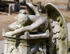 Cemetery Statue Angel Sculpture Photo  11x14 by RetrogradeAmnesia