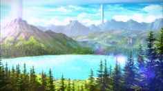free anime landscape images