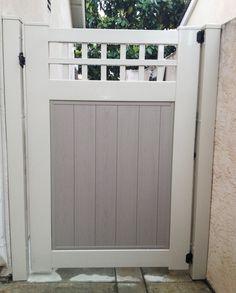 Gate to dog run in the backyard