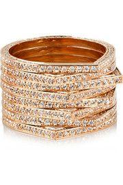 Antifer 18-karat rose gold diamond ring
