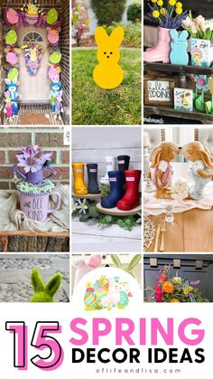 Spring is here! Let's brighten up our home decor with pretty pastels, bunnies and more! Give your home a unique makeover for the spring season inspired by these gorgeous ideas. | Spring Decorating Ideas | Spring Home Decor #homedecor #springdecor #easterdecor #spring #easter #diy #diydecor #decorinspiration #decorideas Summer Crafts For Kids, Spring Crafts, Spring Projects, Easter Activities, Spring Home Decor, Camping Crafts, Diy Home Decor Projects, Décor Ideas, Easter Decor