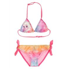 Disney Die Eiskönigin Bikini –Pink- - happy-e-shopping Rosa Bikini, Pink Bikini, Disney Frozen, String Bikinis, Costumes, Swimwear, Shopping, Happy, Fashion