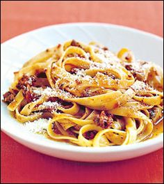 Martha's easy meat sauce & pasta