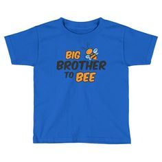 Kids Big Brother to Bee T-Shirt - First time Brother gift for new baby shower