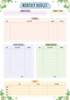 Budget Planning Printables, Home Budget Planner, Budget Planner Template, Printable Budget, Planning Budget, Daily Planner Printable, Planner Book, Planner Layout, Life Planner
