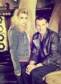 Rose Tyler and the ninth doctor from Doctor who