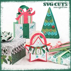 Christmas Gift Bags and Boxes SVG Kit - FOR SOME REASON THESE PINS ARE NOT LINKING CORRECTLY...YOU MAY HAVE TO USE THE SVG CUTS SEARCH BOX TO SEARCH FOR THE ITEM