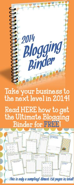 Get the Ultimate Blogging Binder for 2014 for FREE with a TBTS purchase in 2014!  What an awesome bonus!