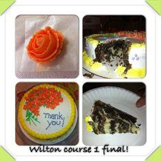 Wilton course 1 cake :)