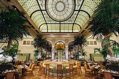 Palm Court at the Plaza, which was recently redesigned by Thierry Despont. Photo: Daniel Krieger