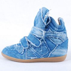 fada71c813b8  camelviewinsurance discount shoes Blue casual shoes High Top Wedge  Sneakers