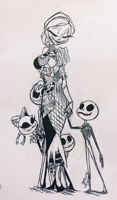 "darkmatternova: ""So, many years later, I thought I'd drop in And there was old Jack, still looking quite thin With four or five skeleton children at hand Playing strange little tunes in their xylophone band ~nightmare before Christmas..."