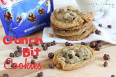 Crunch Bit Cookies! A great spin on the classic chocolate chip cookie!