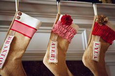 Custom Christmas Stocking: Farmhouse Christmas Rustic Burlap Christmas stocking baby first christmas decor Babies First Christmas, Christmas And New Year, Christmas Fun, Christmas Decorations, Xmas, Custom Christmas Stockings, Burlap Stockings, Diy And Crafts Sewing, Crafts To Do